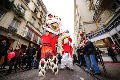 París - Año Nuevo chino 2012 Foto de archivo