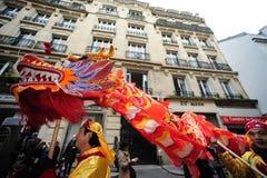 París - Año Nuevo chino 2012 Imagen de archivo