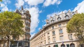 París, apartamentos hermosos imagen de archivo