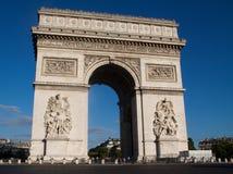 París-Arco de Triomphe de l'Ãtoile Imagenes de archivo
