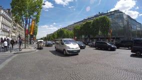 París, calle de Elises de los campeones, almacen de video
