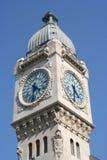 París Clocktower Foto de archivo libre de regalías