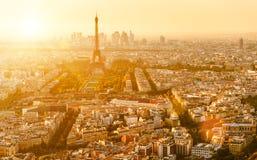 París con el horizonte de la torre Eiffel Imagen de archivo