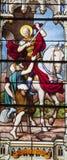 París - cristal de una ventana - San Martín Fotos de archivo libres de regalías