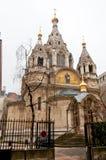 PARÍS 10 DE ENERO: Alexander Nevsky Cathedral en enero 10,2013 en París Foto de archivo libre de regalías