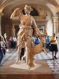 En los pasillos del Louvre. 21 de junio de 2012. París Foto de archivo libre de regalías