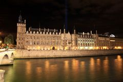 París de Night Imagenes de archivo