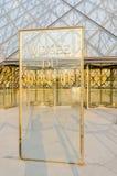 París - 18 de septiembre de 2012: Museo del Louvre encendido Fotos de archivo