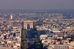 París del cielo fotos de archivo