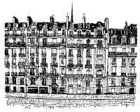 París - el la de Ile de cita libre illustration