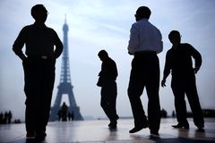 París en el crepúsculo Fotos de archivo