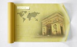 París en el rollo de papel Fotos de archivo libres de regalías