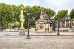 parís En la plaza de la Concordia El centro de ciudad histórico Foto de archivo