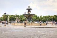 parís En la plaza de la Concordia El centro de ciudad histórico FO Fotos de archivo libres de regalías