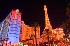 París en Las Vegas en night foto de archivo libre de regalías