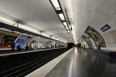 París, estación de metro Invalides Imagen de archivo libre de regalías