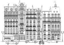 París - fachadas Foto de archivo libre de regalías