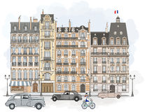 París - fachadas Imagenes de archivo