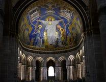 París, Francia, basílica del corazón sagrado Sacre Coeur Interior fotografía de archivo libre de regalías