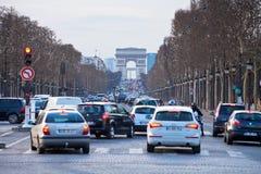Campeones Elysees del DES de las avenidas en París Foto de archivo