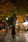 PARÍS, FRANCIA - 10 de noviembre de 2014 dolor famoso del artista de Montmartre Imágenes de archivo libres de regalías