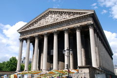 París, Francia: Iglesia de la Madeleine Foto de archivo libre de regalías