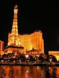 Hotel y casino de París en la tira de Las Vegas Foto de archivo