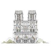 París, Notre Dame, colección del bosquejo