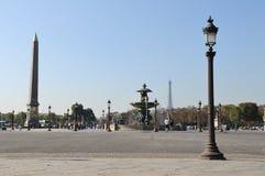 París Place de la Concorde Fotografía de archivo libre de regalías