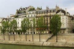 Río Sena en París Fotografía de archivo