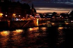 París por noche imágenes de archivo libres de regalías