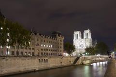 París Seine Notre Dame Fotografía de archivo
