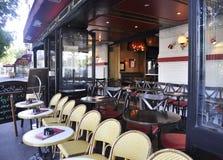 París, 15,2013-Terrace augusto en París Foto de archivo