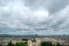 París, una visión bird's-eye Imagen de archivo libre de regalías