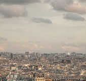 París - una vista de la forma de la ciudad arriba Imagenes de archivo