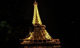 parís Viaje Eiffel Ciudad de la noche Fotos de archivo libres de regalías