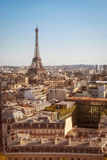 París, viaje Eiffel en la puesta del sol Fotos de archivo libres de regalías