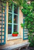 París Windows Fotografía de archivo libre de regalías