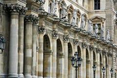 París y el complejo de Musueum de la lumbrera Imagenes de archivo