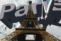 París y la torre Eiffel Imagen de archivo libre de regalías