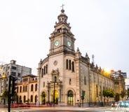 A paróquia de nossa senhora de Pilar é a indicação de San Isidro imagens de stock