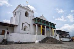 Paróquia de Santiago Apostle em Santiago Atitlan Guatemala fotografia de stock