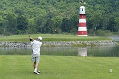 Par 3 with lighthouse Stock Images
