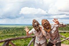 par afrykańskie maski Zdjęcie Royalty Free