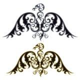 Par av örnkonturer stock illustrationer