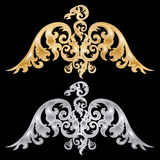 Par av örnkonturer royaltyfri illustrationer