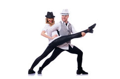 Par av att dansa för dansare Arkivfoto