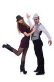 Par av att dansa för dansare Fotografering för Bildbyråer