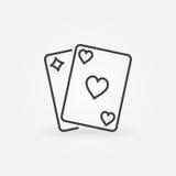 Par av att spela kortsymbolen royaltyfri illustrationer