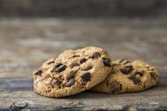 Par av choklad Chip Cookies Royaltyfri Bild